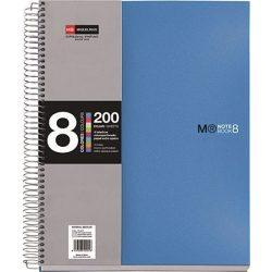 Spirálfüzet MIQUELRIUS 200 oldal, színregiszteres, 8 részes, A/4-es kockás