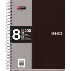 Spirálfüzet MIQUELRIUS 200 oldal, színregiszteres, 8 részes, A/5-ös kockás