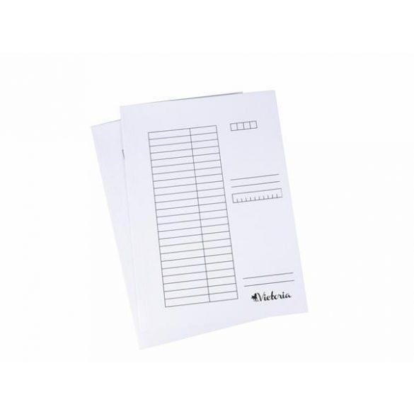 Papír pólyás dosszié A/4 fehér