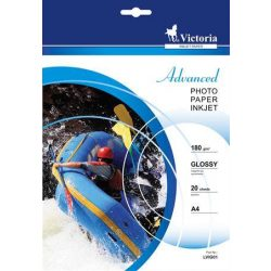 VICTORIA fényes fotópapír A/4 180g 2880dpi 20db/csomag
