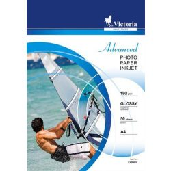 VICTORIA fényes fotópapír A/4 180g 2880dpi 50db/csomag