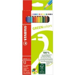 STABILO Greencolors színesceruza 12db / 18db / 24 db-os