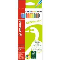 STABILO Greencolors színesceruza 12db