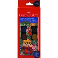 Vízfesték Faber-Castell 30mm 12 szín