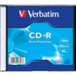 CD írható Verbatim 700MB, 80min, 52x, vékony tok