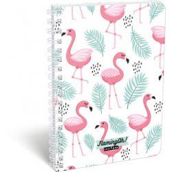 Lizzy Card spirálfüzet A/5 vonalas, Flamingo