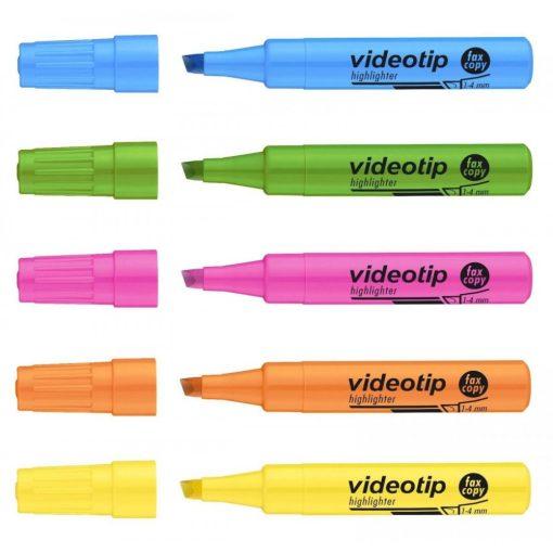 ICO szövegkiemelő Videotip 1-4mm, Fluor kék