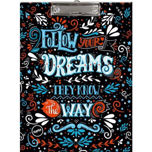 Lizzy Card felírótábla A/4 Follow Your dreams