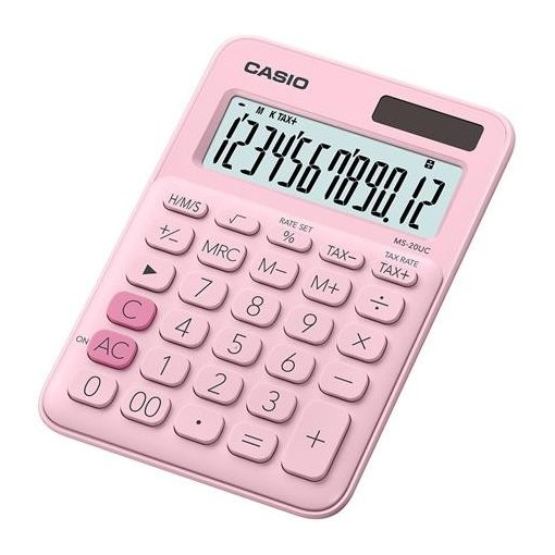 CASIO MS-20 UC asztali számológép 12 számjegy rózsaszín