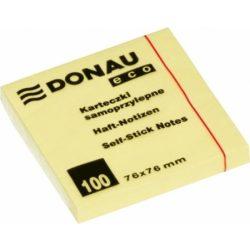 DONAU ECO öntapadós jegyzettömb 76x76mm