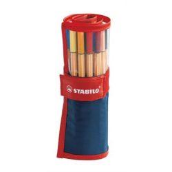 STABILO Point 88 tűfilc készlet 25db felcsavarható tolltartóban