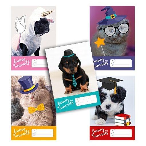 Füzet A/5 Cute Animals PD 14-32 1. osztályos vonalas