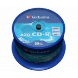 CD írható VERBATIM 700MB, 80min, 52x, 50db hengeren