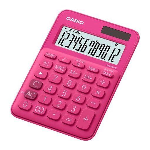 CASIO MS-20 UC asztali számológép 12 számjegy piros
