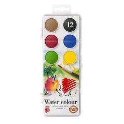 ICO Süni vízfesték 12 színű, 30mm átmérőjű gombokkal