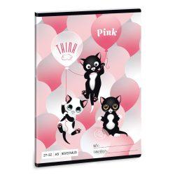 ARS UNA füzet A/5 32 lapos kockás, négyzethálós, Think Pink, 27-32