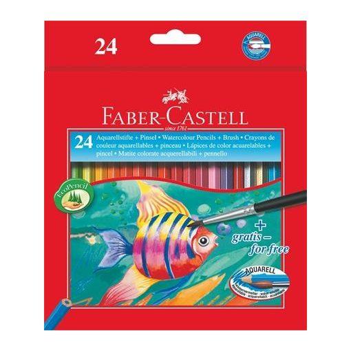 FABER-CASTELL hatszögletű színesceruza 24db aquarell