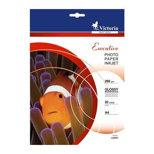 VICTORIA fényes fotópapír A/4 260g 57600dpi 20db/csomag