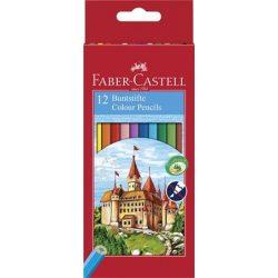 FABER CASTELL hatszögletű színesceruza 12db