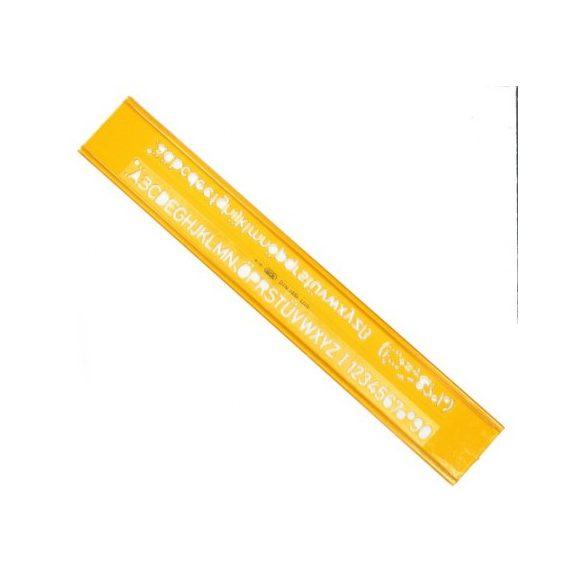 Betűsablon ICO 2,5mm