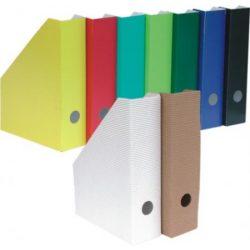 Iratpapucs A/4 összehajtható, karton 8cm zöld