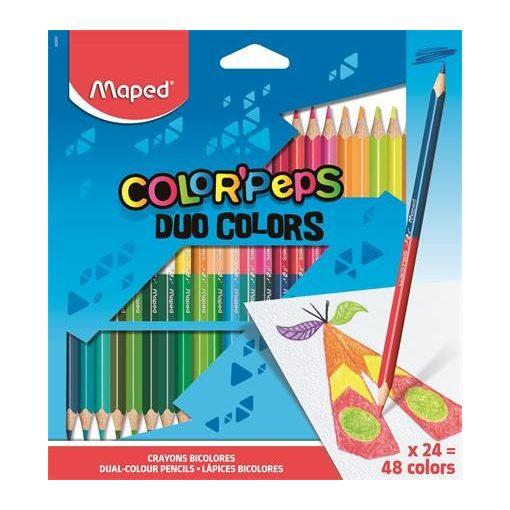 MAPED Color Pep's DUO színesceruza 24db (48szín)