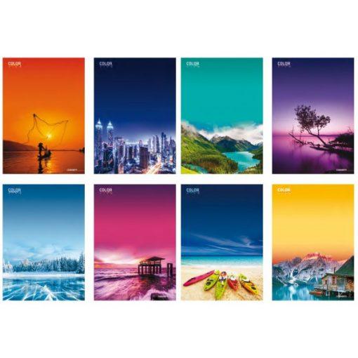 Füzet A/4 BLASETTI Color View 42 lap kockás