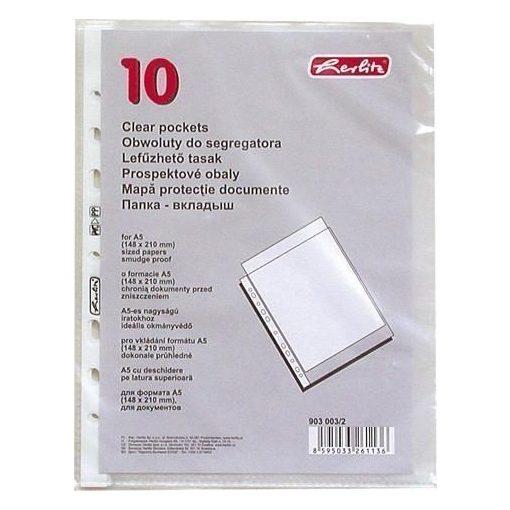 HERLITZ lefűzhető genotherm A/5 40 mic. 10 db/csom