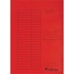 Papír gyorsfűző A/4 5db piros