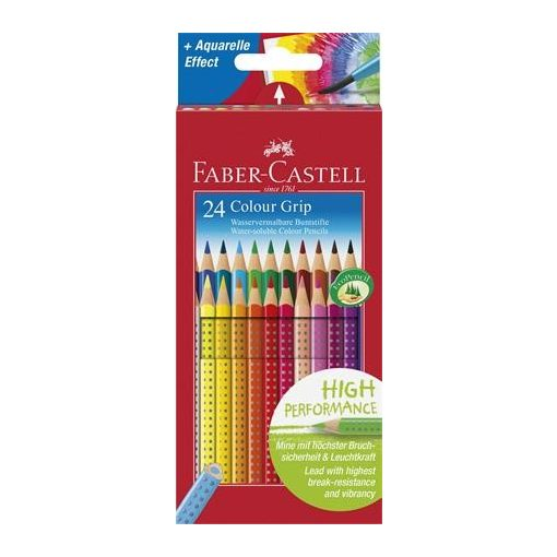 FABER CASTELL Grip színesceruza 24db