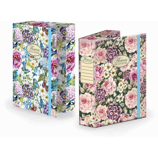 PIGNA Nature Flowers A/4 füzetbox 7cm széles