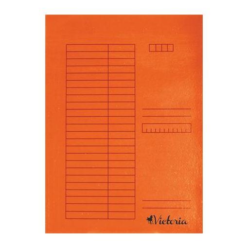 Papír gyorsfűző A/4 5db narancs