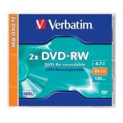 DVD-RW újraírható VERBATIM 4,7GB 2x