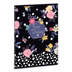 ARS UNA Floral Prism füzet A/4 40 lapos kockás, négyzethálós