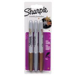 SHARPIE  Permanent marker készlet 3db metallic, metál