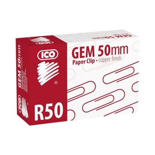 ICO gemkapocs 50 mm-es réz, 100 db/doboz