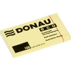 DONAU ECO öntapadós jegyzettömb 127x76mm