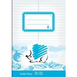 ICO füzet A/5 32 lapos szótár, Süni 31-32