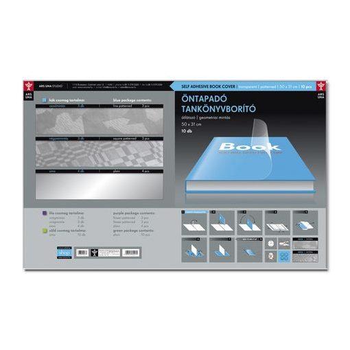 ARS UNA Öntapadós tankönyvborító 10db/cs 50x33cm geometrikus mintával
