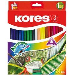 KORES színesceruza akvarell 24db-os
