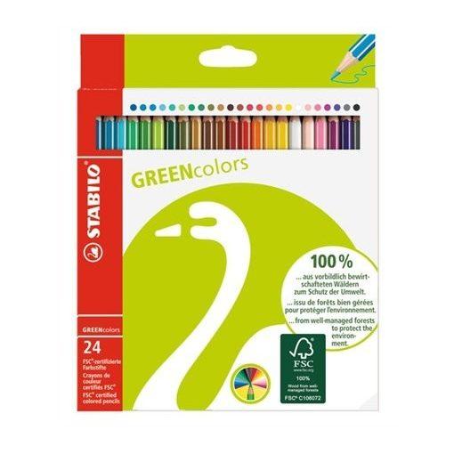 STABILO Greencolors színesceruza 24db