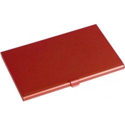 Alumínium névjegytartó, piros