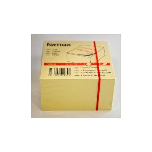 FORNAX öntapadós jegyzettömb 75x75mm 450lap sárga