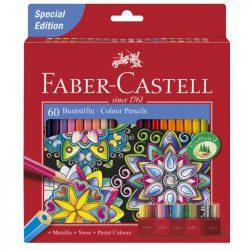 FABER CASTELL hatszögletű színesceruza 60db