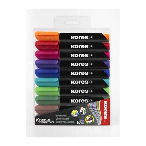 KORES alkoholos filc K-Marker 3-5mm, kúpos, 10db-os készlet