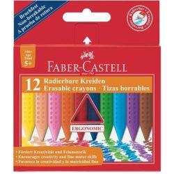 FABER-CASTELL Grip zsírkréta háromszögletű 12db Jumbo