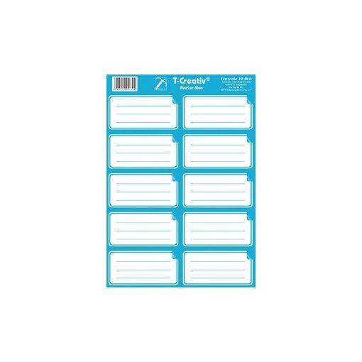 Füzetcímke egyszínű 10 címke/lap világoskék
