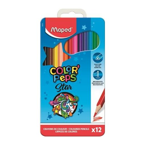 MAPED Color'Peps színesceruza 12db fémdobozban