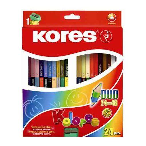 KORES Duó színesceruza 24db (48szín)