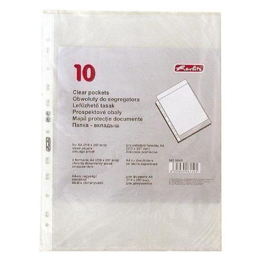 HERLITZ lefűzhető genotherm A/4 40 mic. 10 db/csom
